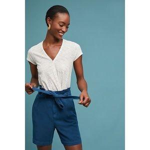 NWOT Anthropologie Paperbag-Waisted Bermuda Shorts